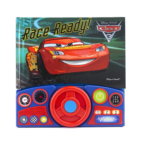 Cars 3 Steering Wheel Book (Board book, Sound Book)