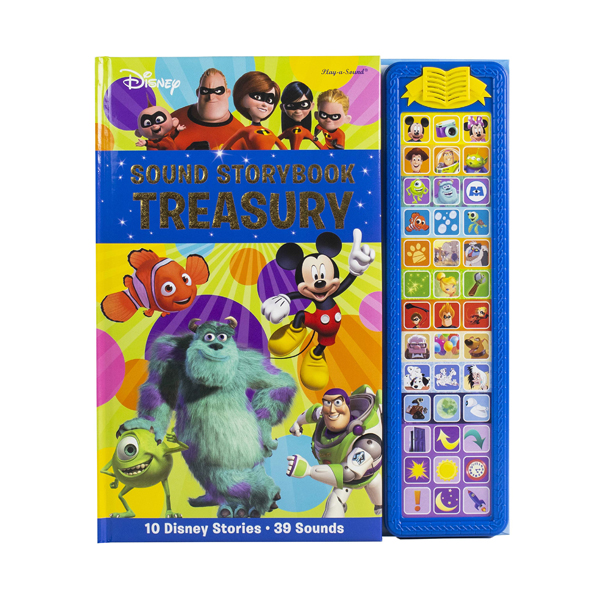 Disney Mickey Mouse, Minnie, Toy Story, and More! : Sound Storybook Treasury (Sound Board book)