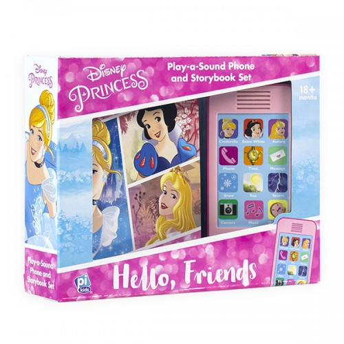 Disney Princess: Hello Friends: Phone and Storybook Set (Sound Board Book)