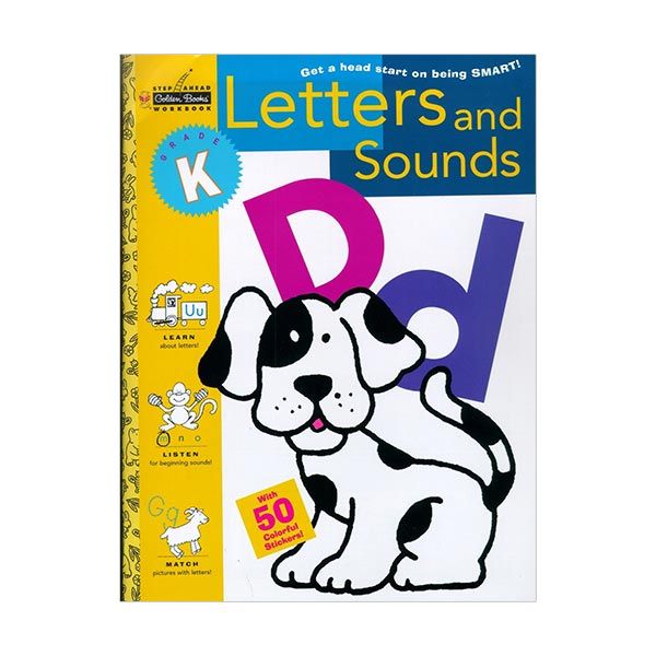 Golden Books Step Ahead Workbook : Letters And Sounds : Kindergarten (Paperback)