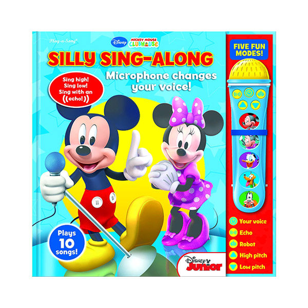 Mickey & Minnie : Silly Sing-Along : Voice Changing Microphone and Sound Book (Board book)