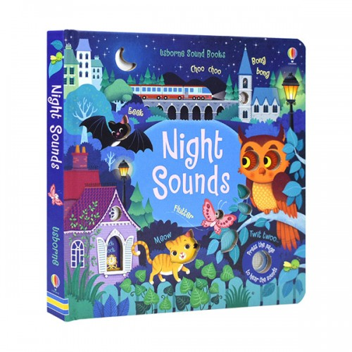 Usborne Noisy Books : Night Sounds (Board book, Sound book, 영국판)
