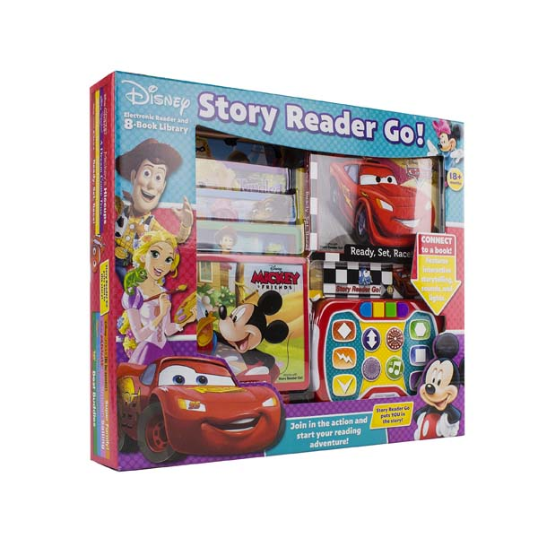 [Pi] Disney - Story Reader Go! Electronic Reader and 8-Book Library (Sound Book)