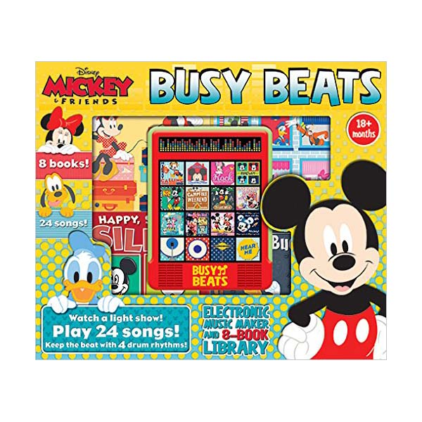 [Pi] Disney Mickey & Friends Busy Beats Electronic Music Maker & 8-Book Library Read Sing and Drum (Sound Book)