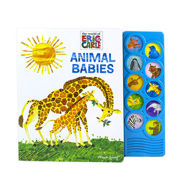 [Pi] Eric Carle : Animal Babies : Play a Sound (Hardcover, Sound Book)