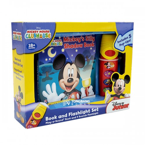 Mickey's Silly Shadow Book : Book & Flashlight Set (Board Book, Sound Book)