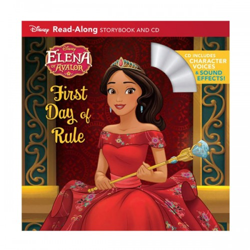 Disney Read-Along Storybook : Elena of Avalor : Elena's First Day of Rule : 아발로 왕국의 엘레나 (Book & CD)