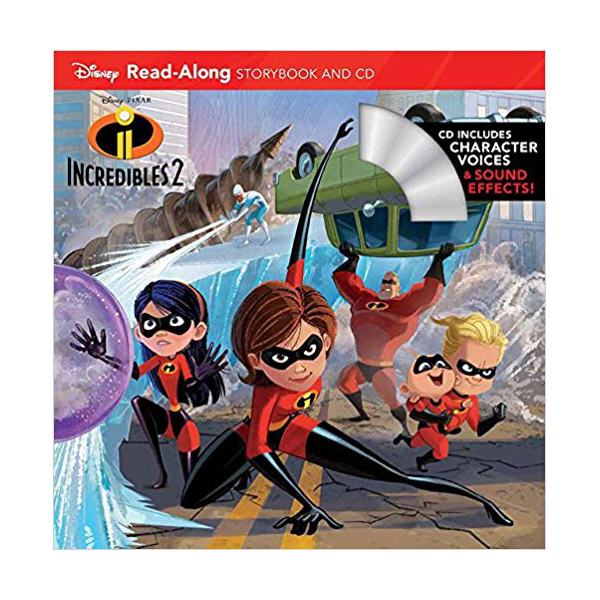 Disney Read-Along Storybook : Incredibles 2 : 인크레더블2 (Book and CD)