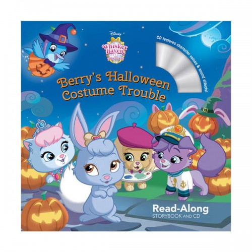 Disney Read-Along Storybook : Whisker Haven Tales with the Palace Pets : Berry's Halloween Costume Trouble (Book & CD)