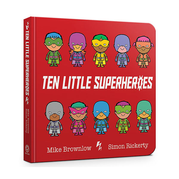 Ten Little Superheroes (Board Book, 영국판)
