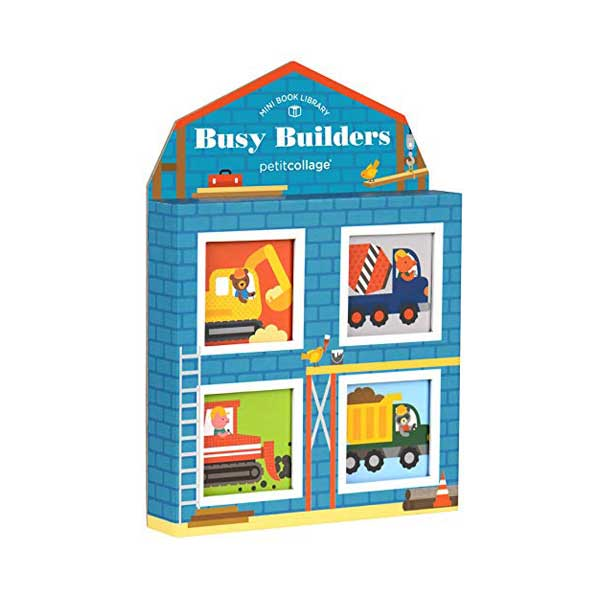 Busy Builders Print Mini Library Set (Board Book)