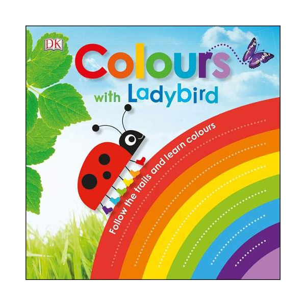 Colours with a Ladybird : Follow the Trails and Learn Colours (Board book, 영국판)