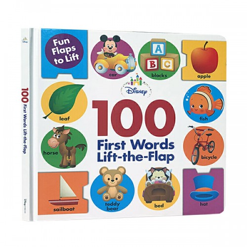Disney Baby 100 First Words Lift-the-Flap (Board book)
