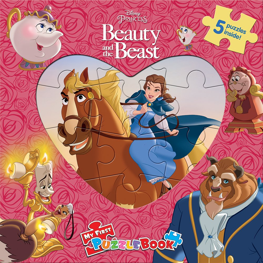 Disney Beauty and the Beast : My First Puzzle Book (Board Book)