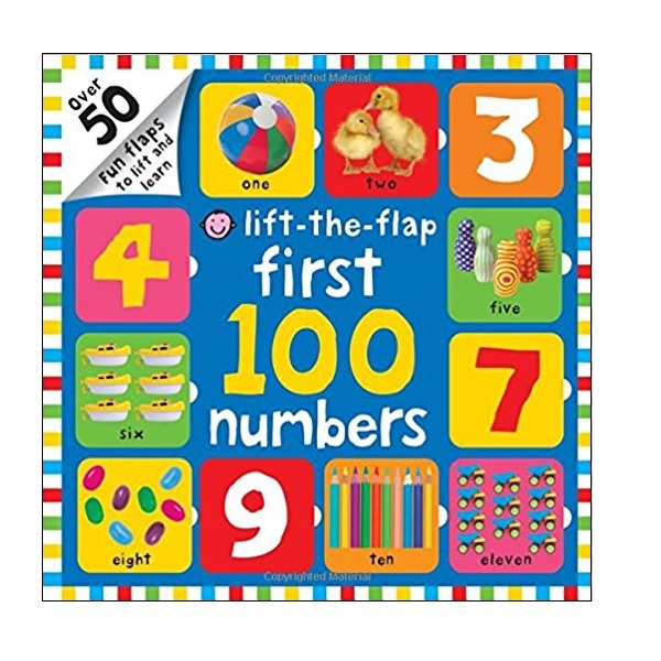 First 100 Numbers Lift-the-Flap: Over 50 Fun Flaps to Lift and Learn (Board book)