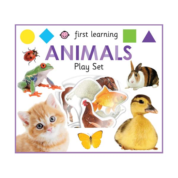 First Learning Animals Play Set  (Board Books)
