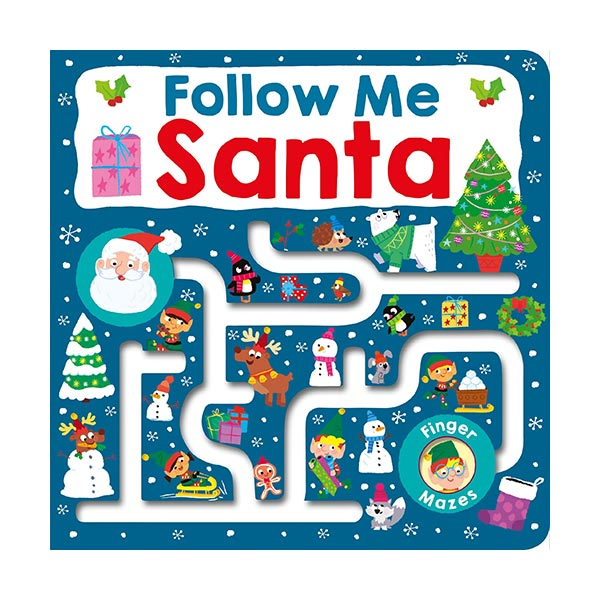 Follow Me Santa : Maze Book (Board book)