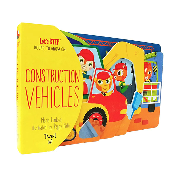 Let's Step : Construction Vehicles (Board book)