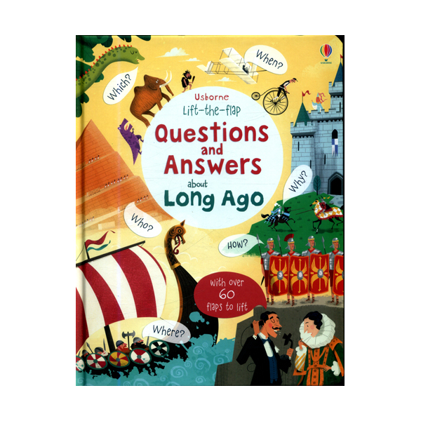 Lift-the-flap Questions and Answers about Long Ago (Board book, 영국판)