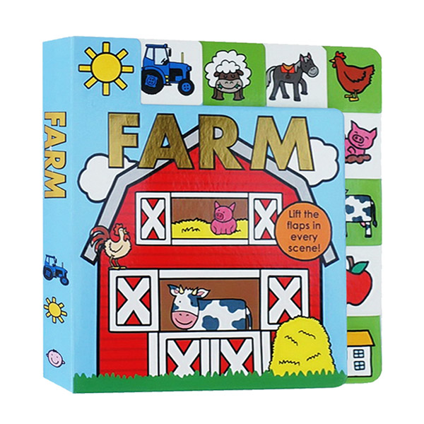 Lift-the-Flap Tab : Farm (Board book)