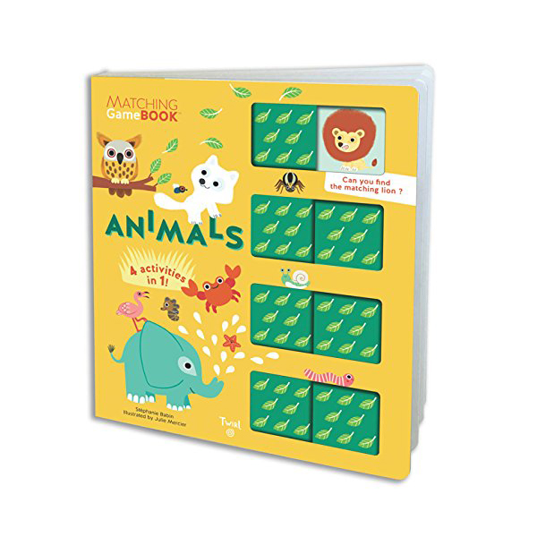 Matching Game Book : Animals (Board book)