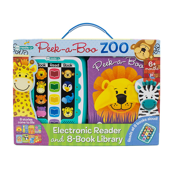 Me Reader Junior Peek-a-Boo Zoo: Electronic Reader and 8-Book Library (Board book)