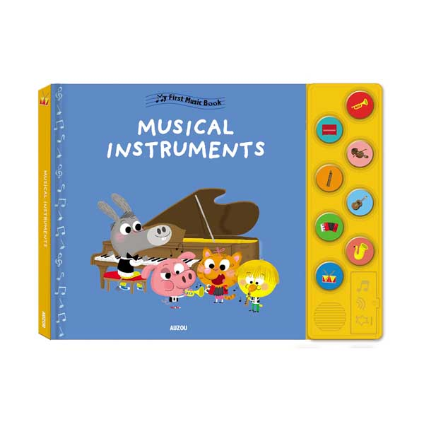 My First Music Book : Musical Instruments (Board book, Sound Book)
