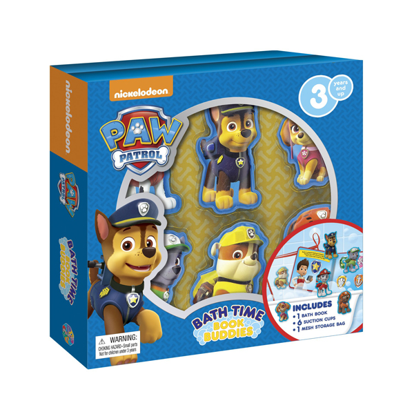Nick Paw Patrol : Bath Time Book Buddies (Board Book)