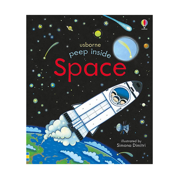Usborne Peep Inside : Space (Board book, 영국판)
