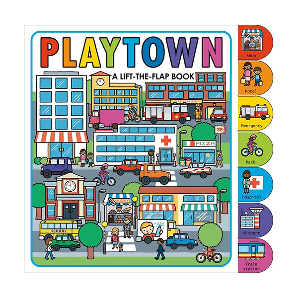 ☆윈터세일☆Playtown : Lift The Flap Book (Board Book)