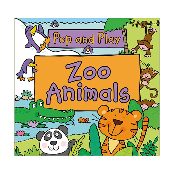 Pop and Play : Zoo Animals (Board Book)