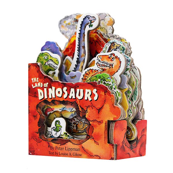 The Land of Dinosaurs : A Mini-House Book (Board Book)