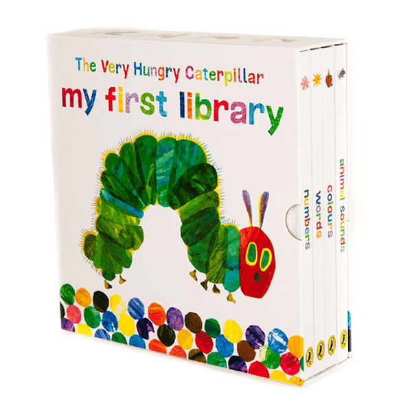 The Very Hungry Caterpillar My First Library (Board book, 4권, 영국판)