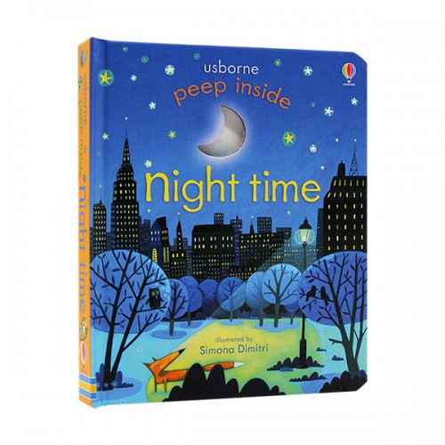 Usborne Peep Inside : Night Time (Board book, 영국판)