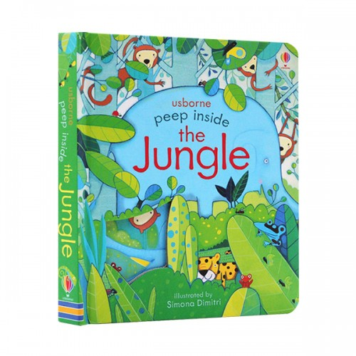 Usborne Peep Inside : the Jungle (Board book, 영국판)