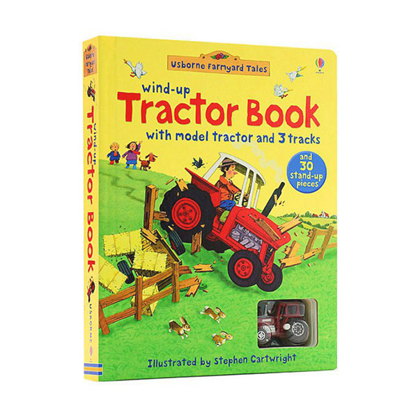 Wind-Up Tractor Book (Board Book)