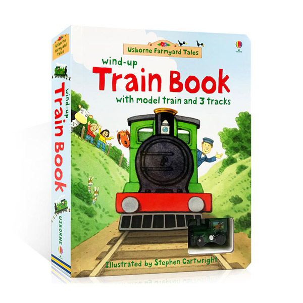 Wind-up Train Book : 3 Tracks (Board Book)