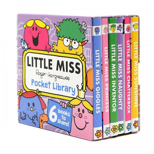 Little Miss : Pocket Library (Mini Board Book, 6종, 영국판) (CD미포함)