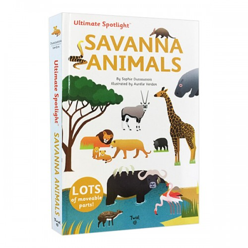 Ultimate Spotlight : Savanna Animals (Hardcover)