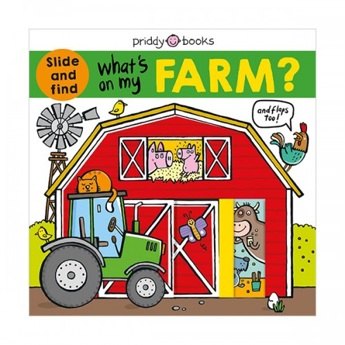 What's on My Farm? : A slide-and-find book with flaps (Board book)