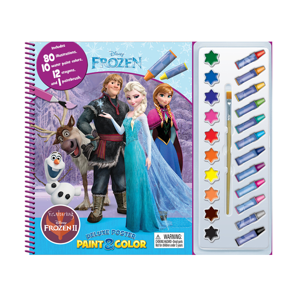 Disney Frozen 2 Deluxe Poster Paint & Color (Paperback)