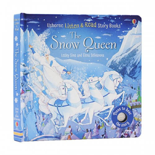 Usborne Listen and Read Story Books : The Snow Queen (Board book, Sound book, 영국판)