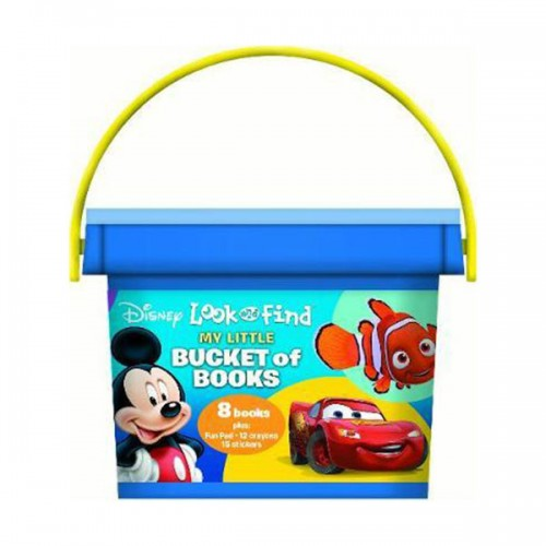 Disney :  My First Library Look and Find Book Block Bucket (Board book)