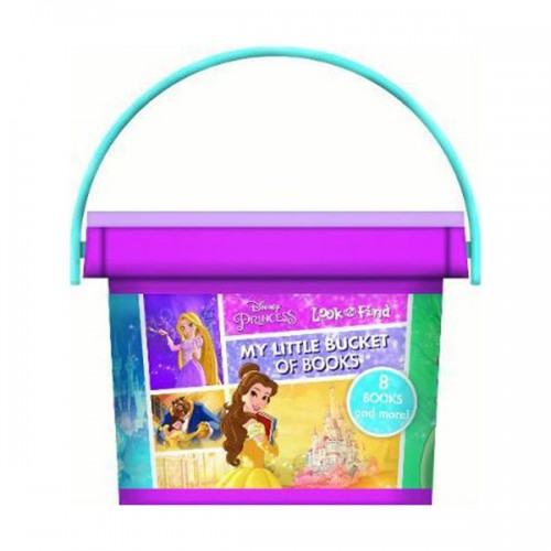 Disney Princess :  My First Library Look and Find Book Block Bucket (Board book)