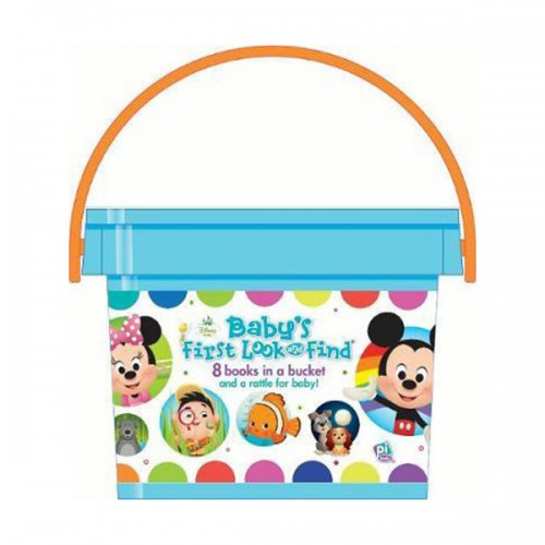 Disney Baby :  My First Library Look and Find Book Block Bucket (Board book)