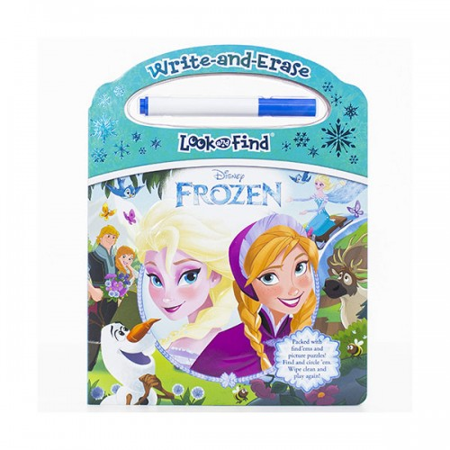 Disney Frozen : Write and Erase Look and Find  (Board book)