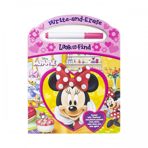 Disney Minnie Mouse : Write and Erase Look and Find  (Board book)