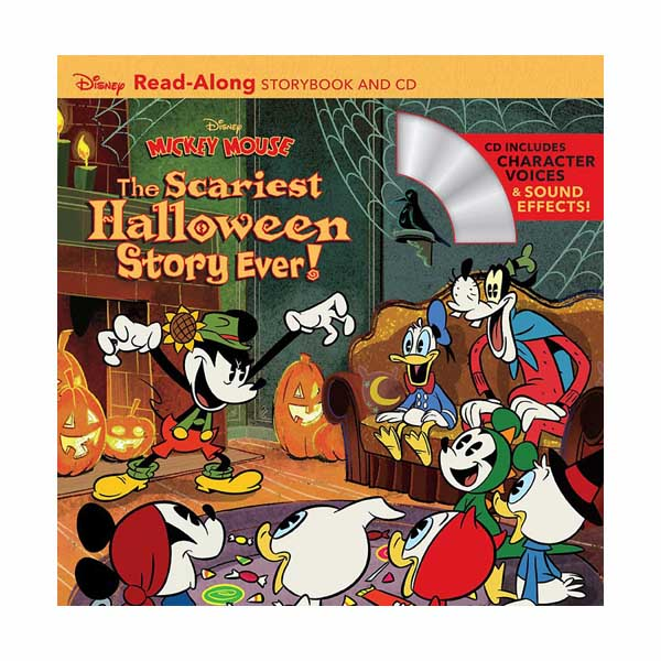 Disney Read-Along Storybook : Mickey Mouse : The Scariest Halloween Story Ever! :미키마우스 (Book and CD)