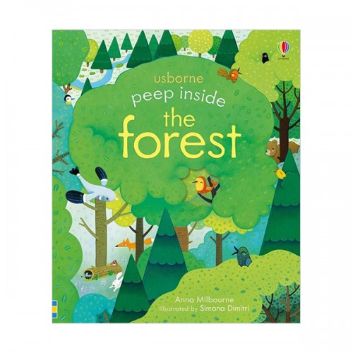 Usborne Peep Inside : the Forest (Board book, 영국판)