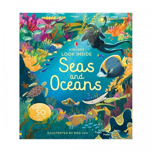 Look Inside : Seas and Oceans (Board book, 영국판)